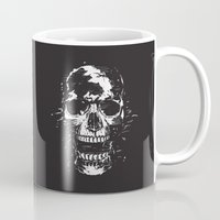 scream Mugs featuring Scream by Balazs Solti