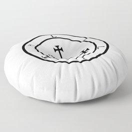 Sigil of Lilith- Female demon Lilith symbol Floor Pillow