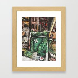Vertical Neighborhood Framed Art Print