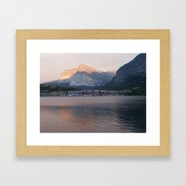 Many Glacier Framed Art Print