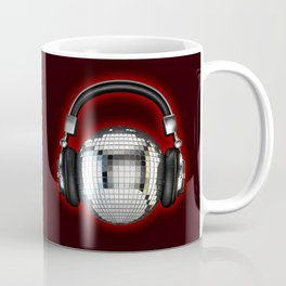 Headphone disco ball Coffee Mug