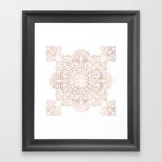 Mandala Rose Gold Pink Shimmer #society6 Framed Art Print