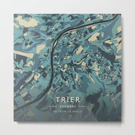 Trier, Germany - Cream Blue Metal Print