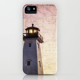 Lighthouse Map iPhone Case