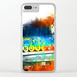 NYC Watercolor Collection - Manhattan Subway Clear iPhone Case