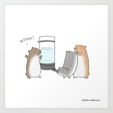 Ain't Nothin But A Hamster Party  Art Print