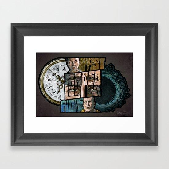 LOOPER // Past/Future Framed Art Print