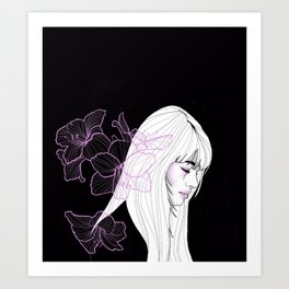 Fleur De Lune Art Print