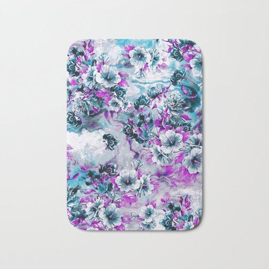 Frozen Flowers IV Bath Mat