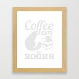 Kaffee Katzen Buch Geschenk Framed Art Print