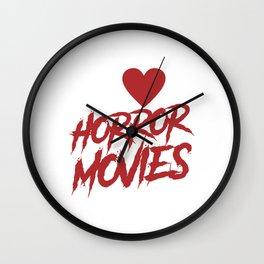 I love Horror Movies Wall Clock