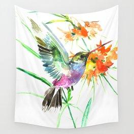 hummingbird print wall tapestries society6