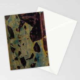 abstract metal pattern Stationery Cards