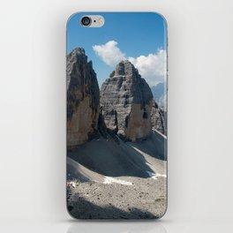 The Three Peaks of Lavaredo iPhone Skin