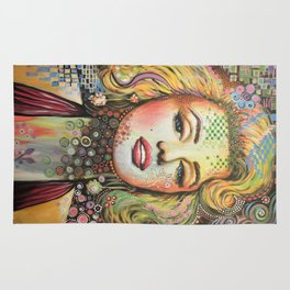 Marilyn / Original Hollywood Bombshell Modern Art Rug