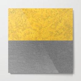 Mustard Yellow Concrete and Marble Granite Metal Print