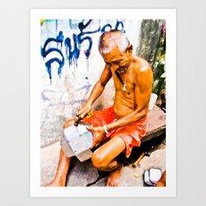 Thai Merchant Art Print