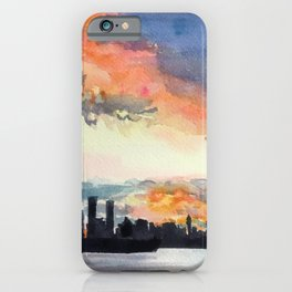Vancouver sunset iPhone Case