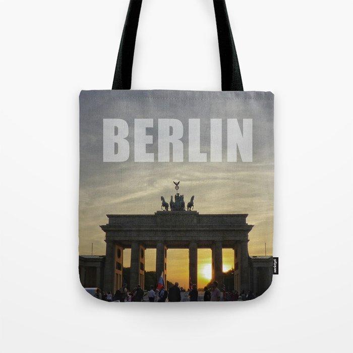 BERLIN, Sunset at the Brandenburg Gate Tote Bag