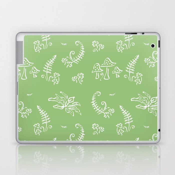 Lady Fern - Green Laptop & iPad Skin