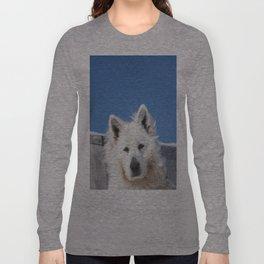 White Husky Long Sleeve T-shirt