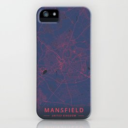 Mansfield, United Kingdom - Neon iPhone Case