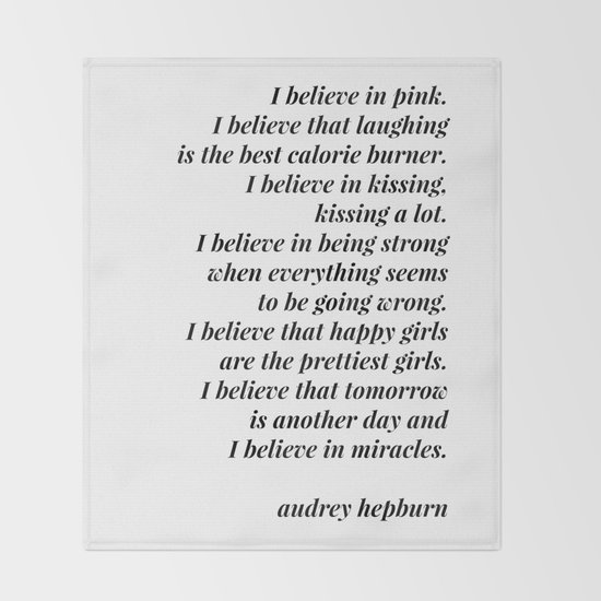 Audrey Hepburn quote by blackandwhitetype