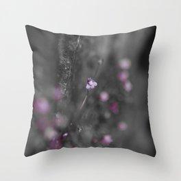 Flower on the Rocks Throw Pillow