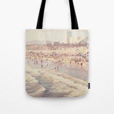 Sunny California. Santa Monica beach photograph Tote Bag