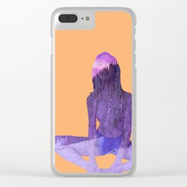 Morning Pose Clear iPhone Case