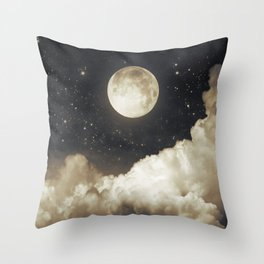 Touch of the moon I Throw Pillow