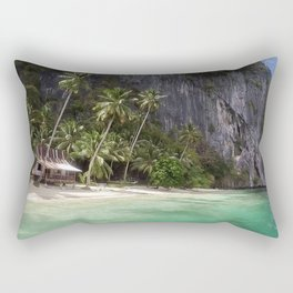 Pinagbuyutan Island with emerald water Rectangular Pillow