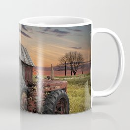 Abandoned Farmall Tractor and Barn Coffee Mug