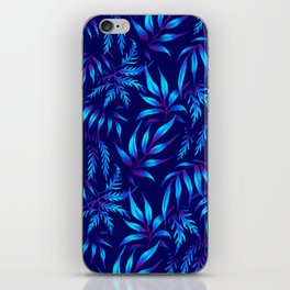 Brooklyn Forest - Blue iPhone Skin