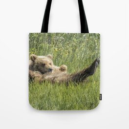 My Foot's So Pretty, Oh So Pretty - Bear Cubs, No. 2 Tote Bag