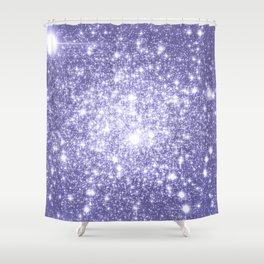 Galaxy Sparkle Dark Lavender Shower Curtain