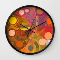 drum Wall Clocks featuring Drum Circle by Chris Murtagh