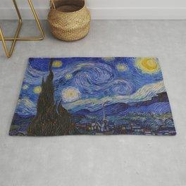 The Starry Night by Vincent van Gogh (1889) Rug