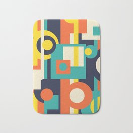 Funky Geometry (Modern Vibrant Color Palette) Bath Mat