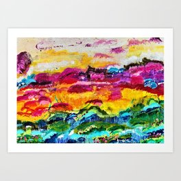 Conversation Sunset Art Print