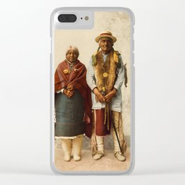 Native American Couple Clear iPhone Case