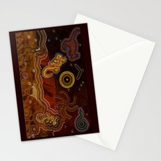Desert Heat - Australian Aboriginal Art Theme Stationery Cards