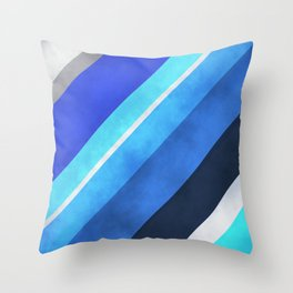 Parallel Blues Throw Pillow