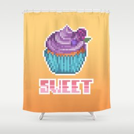 Berry Cupcake Shower Curtain