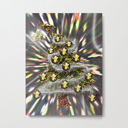 A different kind of Christmas Tree Metal Print