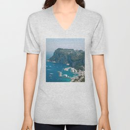 Italy, Capri Landscape View Unisex V-Neck