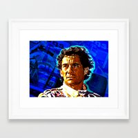 senna Framed Art Prints featuring Ayrton Senna by TOROZON