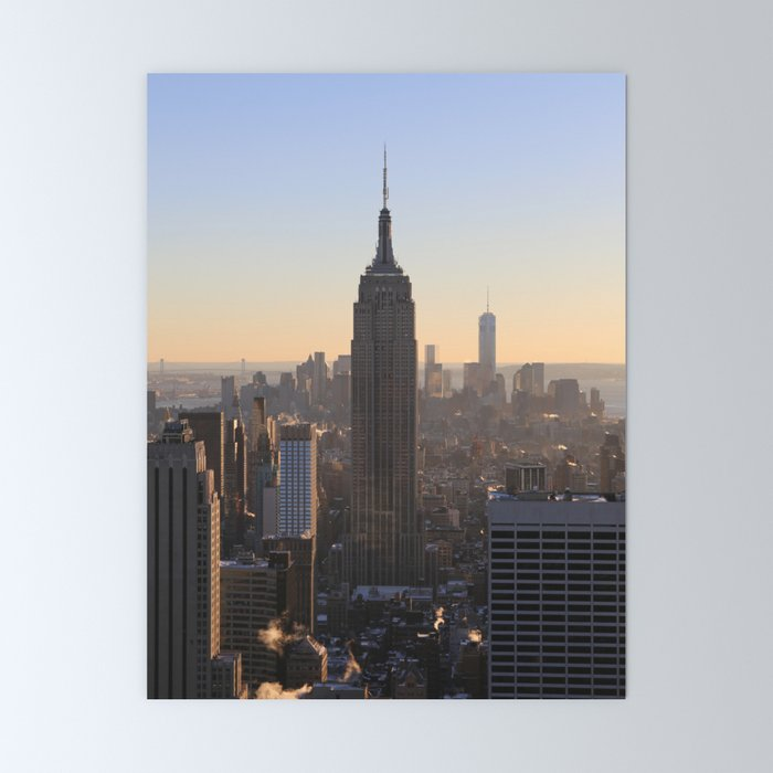 Empire State Building NYC Sunset Mini Art Print
