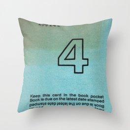 Ilium Public Library Card No. 4 Throw Pillow