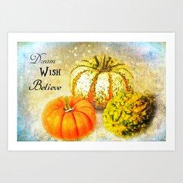 Pumpkin Wishes Art Print